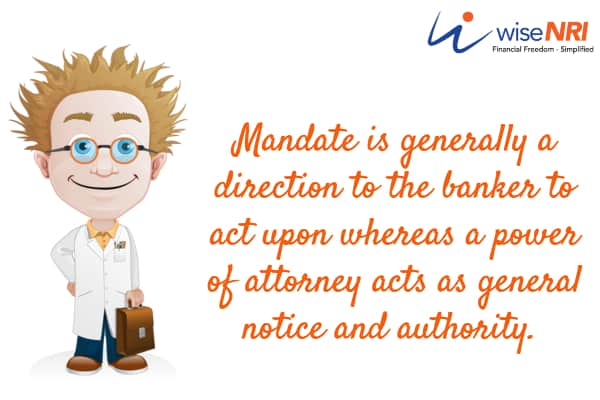 mandate holder meaning