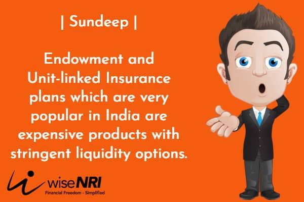endowment policy NRI