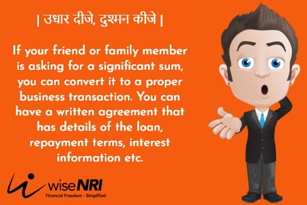 NRI Giving Money to Family and Friends