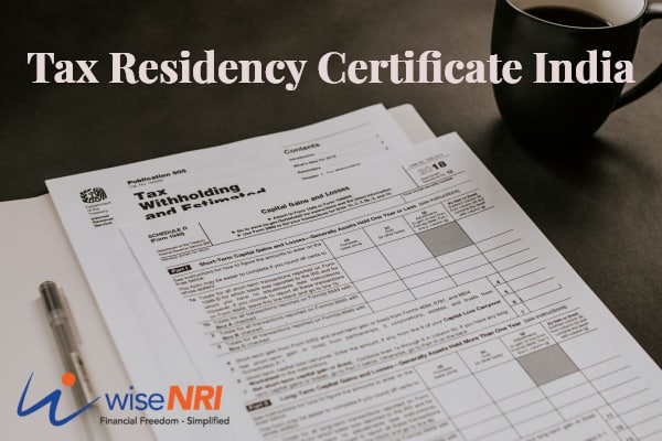 tax residency certificate india